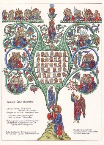 Hortus_Deliciarum,_Der_Stammbaum_Christi