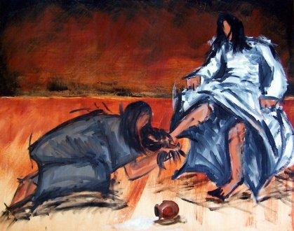 Mary Washing Jesus' Feet.0